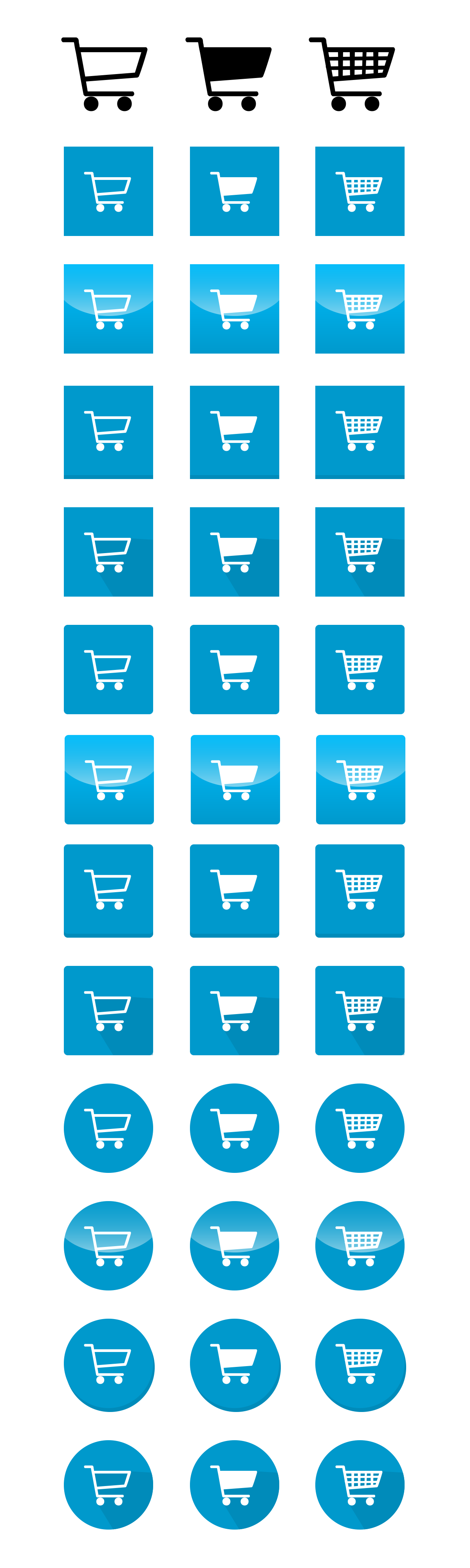 Free Cart Icon Vector Graphic Pack