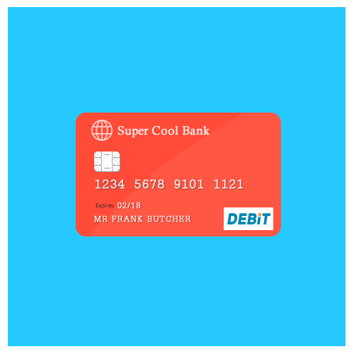 Free Debit / Credit Card PSD Graphic