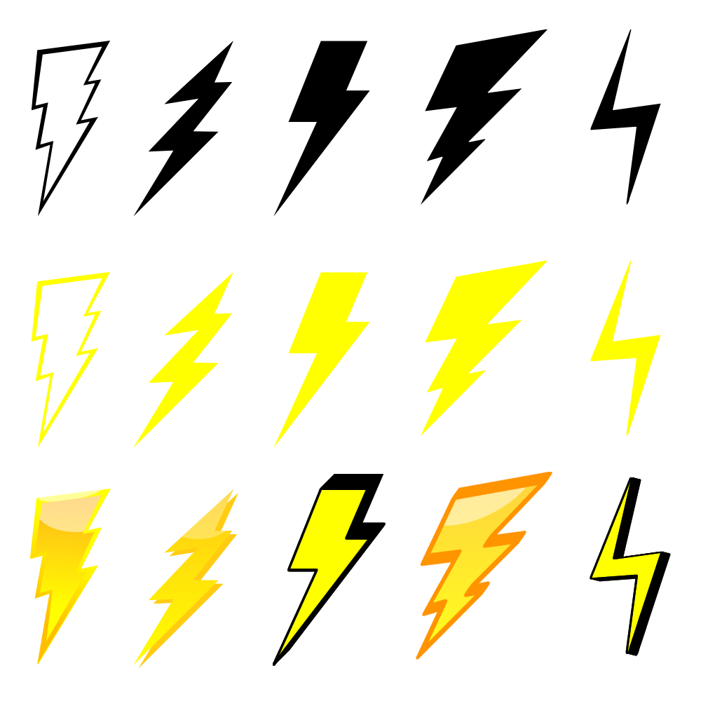 Free Lightning Bolt Graphics Pack - The Web Taylor for Vector Lighting Bolt  131fsj