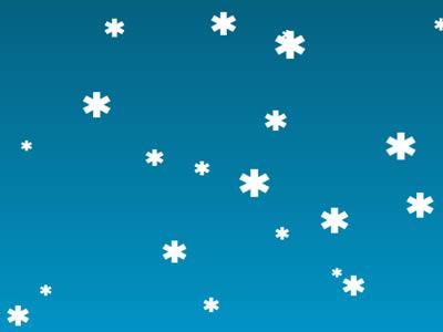 HTML5 JavaScript Christmas Snow Background
